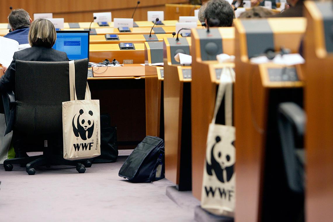 WWF Stoffbeutel in Brüssel