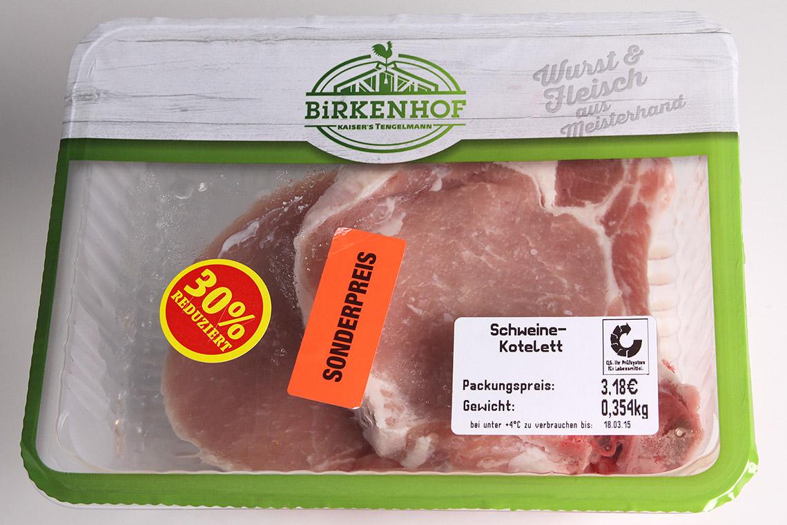 Birkenhof Fleisch Packung: was ist drin im Steak und in der Wurst?