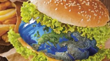 Die Erde als Hamburger