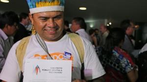Brasilien demonstriert für die Rechte der Natur und der indigenen Bevölkerung © Alan Azevedo / Greenpeace