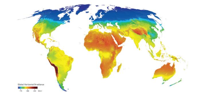 Globale Sonnenstrahlung: Chance zur Neuverteilung des globalen Wohlstands? © WWF