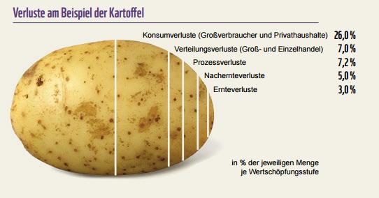 Lebensmittelverschwendung konkret am Beispiel Kartoffeln. © WWF