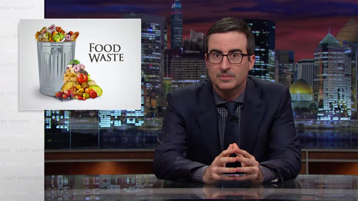 John Oliver über Lebensmittelverschwendung