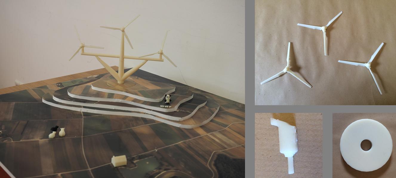 Unsere Konstruktion eines flächeneffizienten Windrades, © Finn Hirschoff