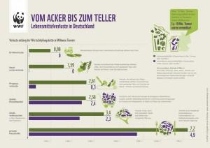 Grafik zu den Lebensmittelverlusten in Deutschland - vom Acker bis auf den Teller.