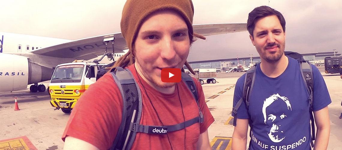 YouTube-Stars Simon Unge und De Changeman mit uns auf den Weg in den Amazonas. © Simon Unge