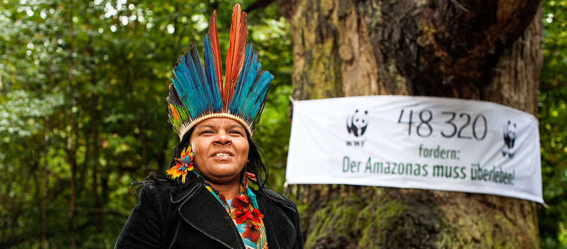 Sônia Guajajara im Tegeler Forst © David Biene / WWF