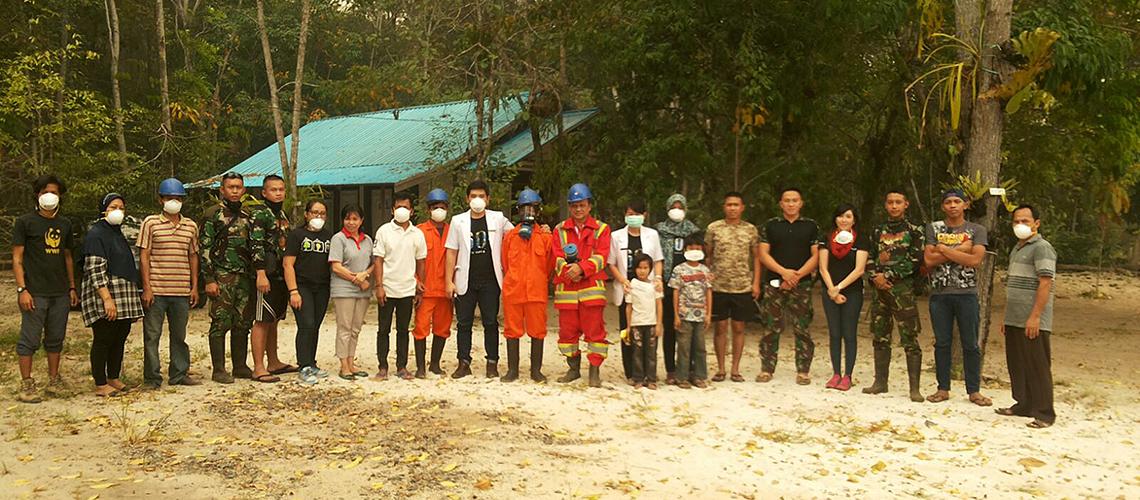 Die lokale Feuerbrigade braucht Unterstützung © WWF Indonesien