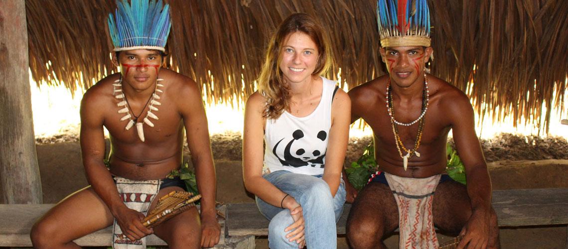 "Melanie Gömmel bei der ""Indigenious community of Tupé"" © David Biene / WWF"