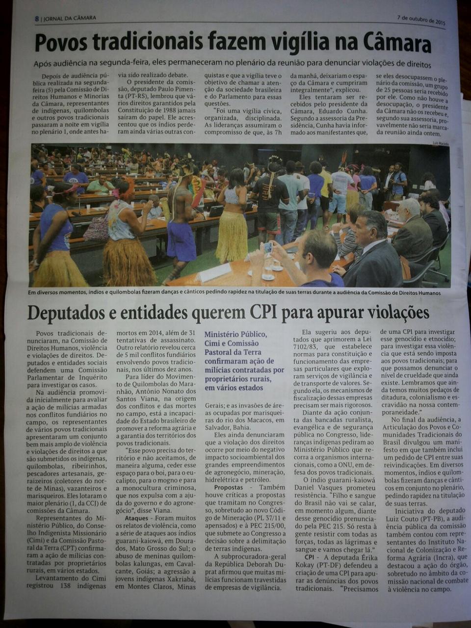 In Brasilien ist der Protest natürlich Thema © WWF Brasilien
