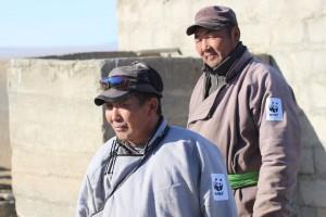 Saiga-Ranger Tuvandorj und sein Kollege.
