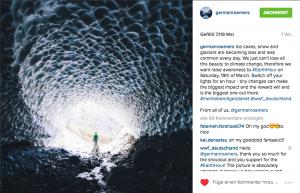 Fotobeitrag für die Instagram Aktion #meinlebendigerPlanet zur Earth Hour.