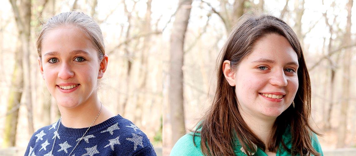 Elisabeth (links) und Hannah (rechts) sind schon lange im Klimaschutz aktiv. © Arnold Morascher / WWF