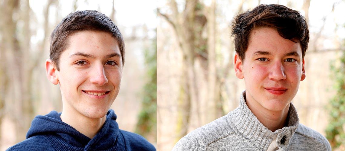 Sebastian (links) und Aaron (rechts): Klimaschutz heißt Gerechtigkeit © Arnold Morascher / WWF