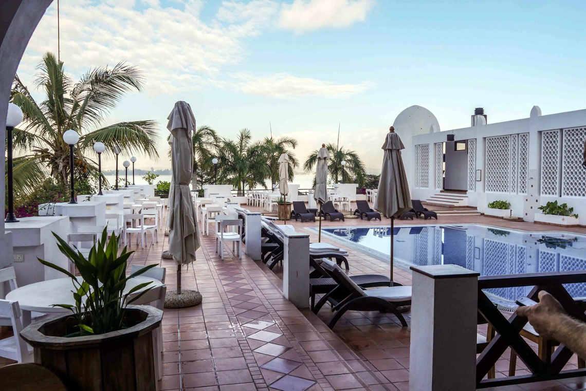 Unser Hotel Tansania daressalam: Der Blick auf`s Meer