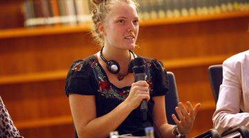 Cosima Siegling diskutiert auf den Climatediplodays den Klimaschutz nach der COP21 in Paris