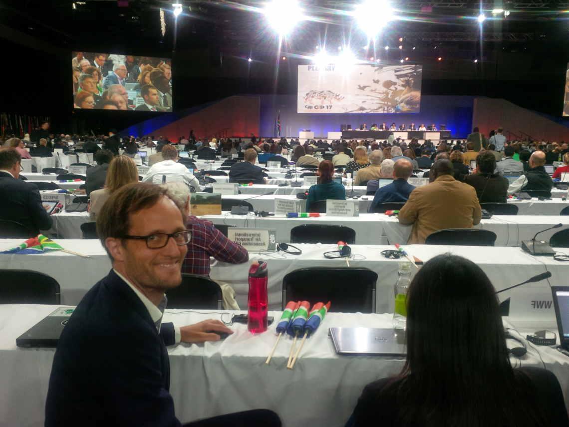 Köhnke im Plenum der Cites in Johannesburg