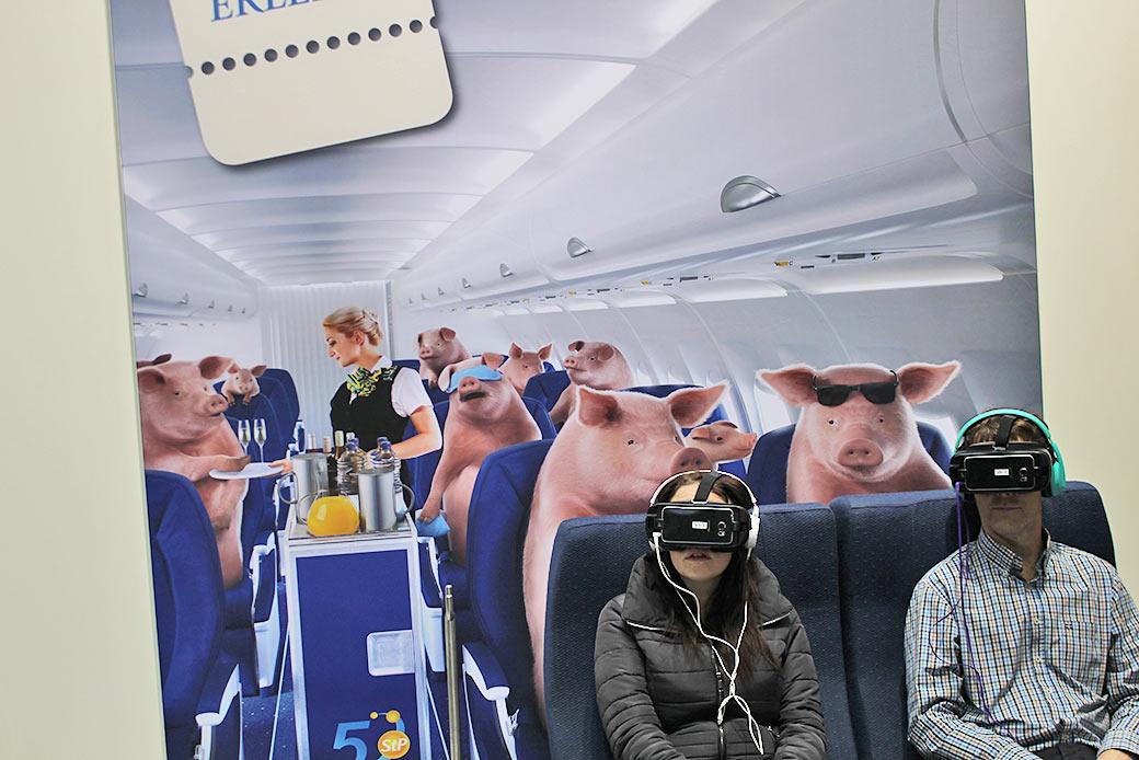 Das Ende des Elends Treil II: Virtual Reality gibt es aber auch für Menschen © Markus Wolter / WWF
