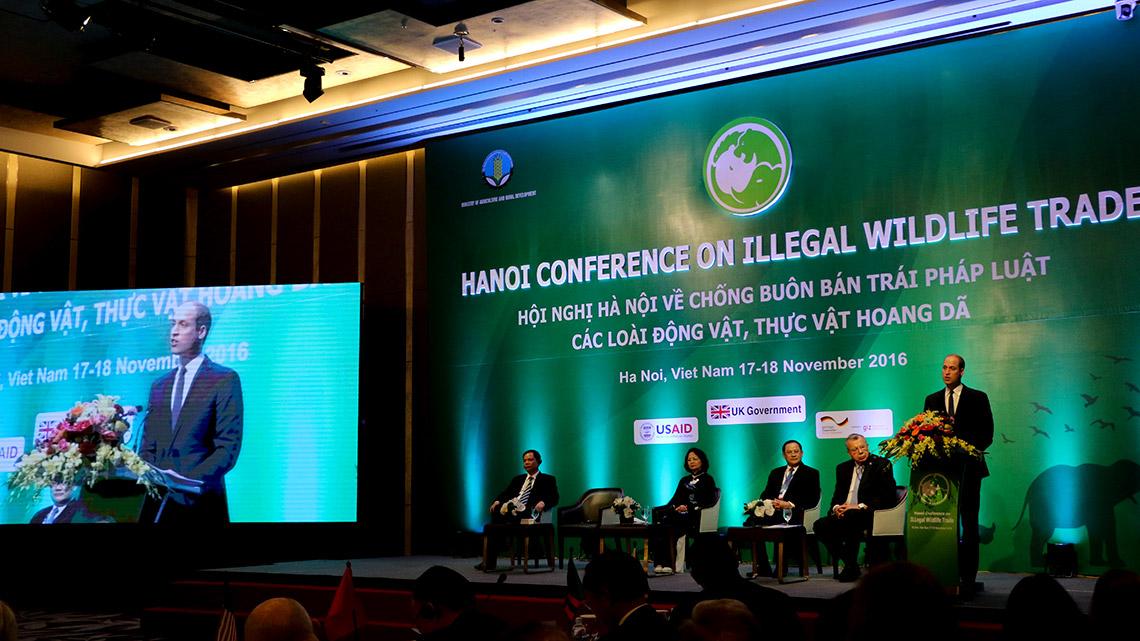 Prinz William spricht auf der Artenschutzkonferenz in Hanoi © WWF