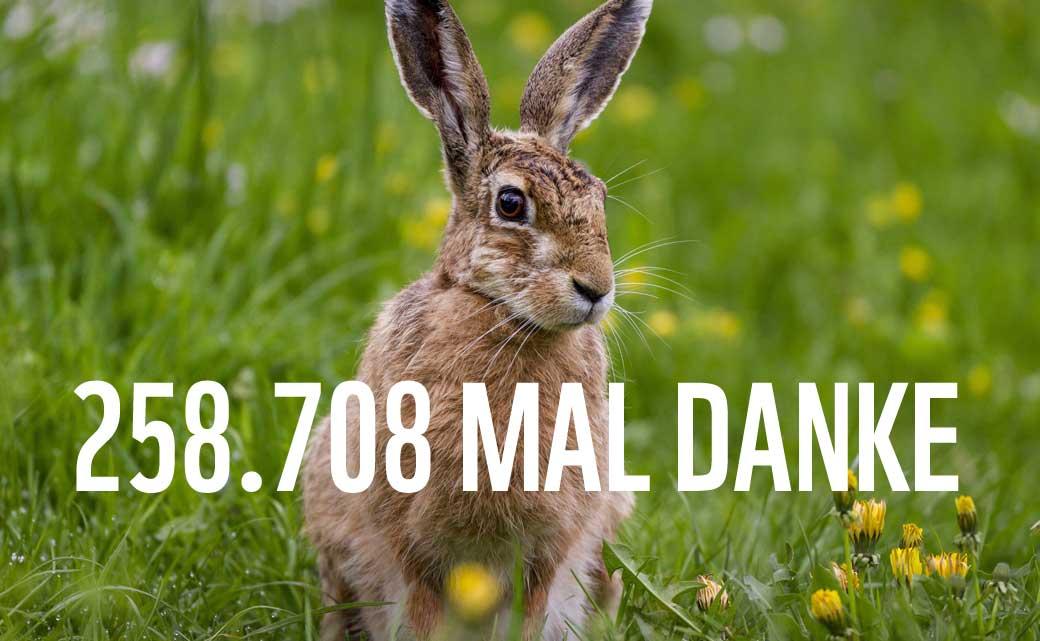 #LivingLand: 258.708 mal Danke! © Imago