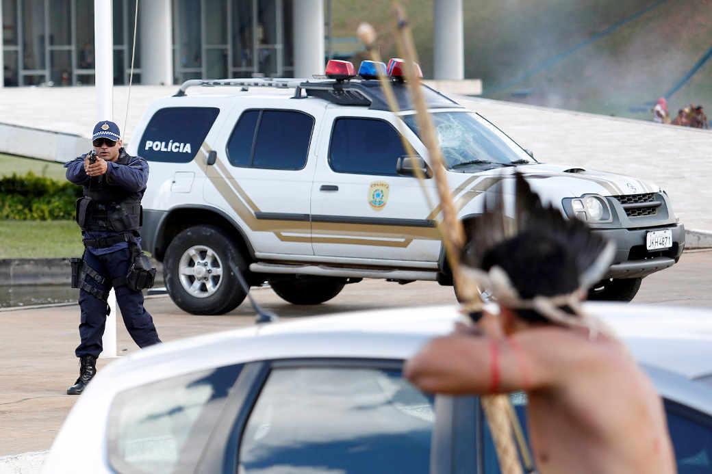Widerstand: Indigene kämpfen gegen ihre Entrechtung durch die regierung Temer in Brasilia