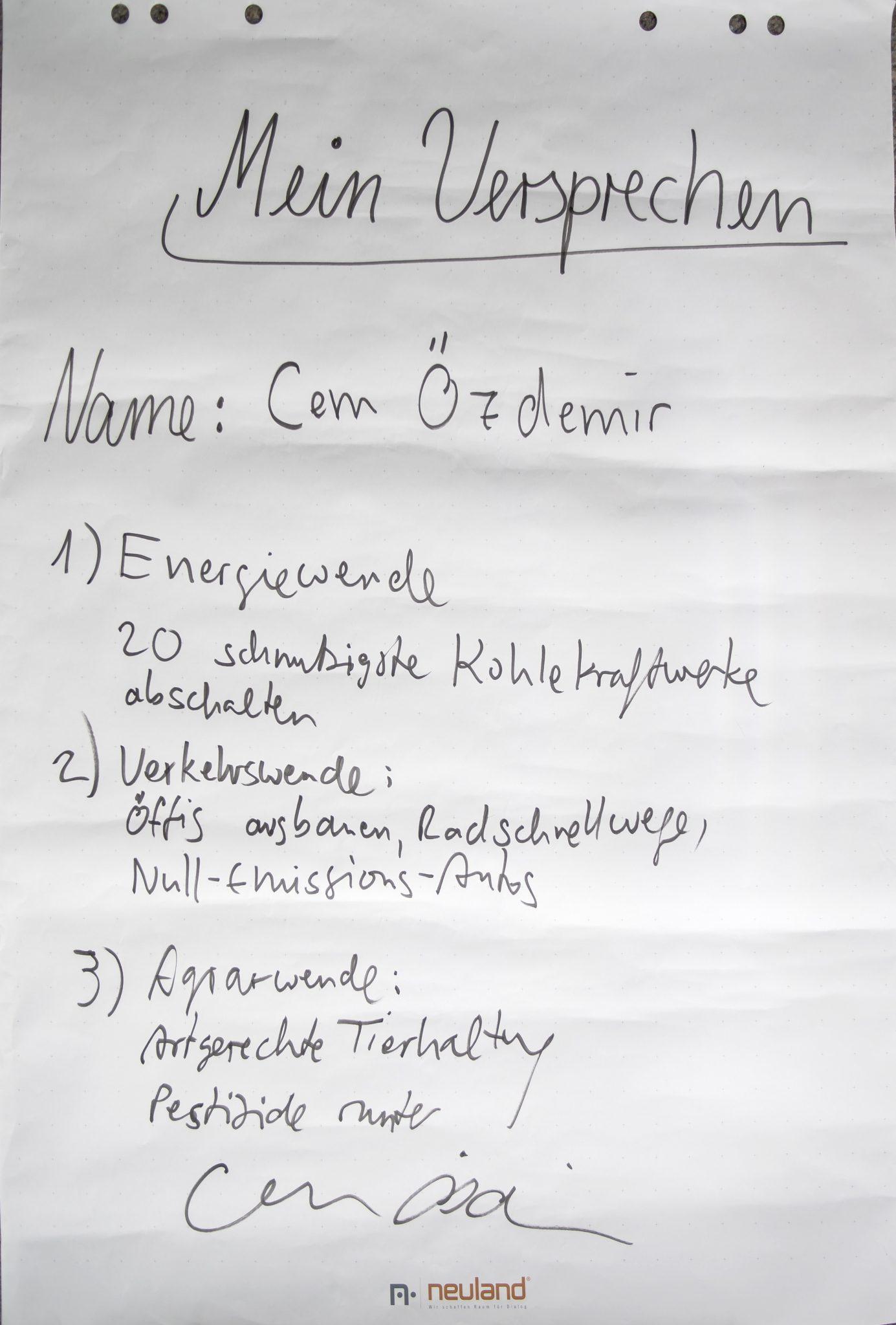 Die Versprechen des Cem Özdemirs © WWF Deutschland