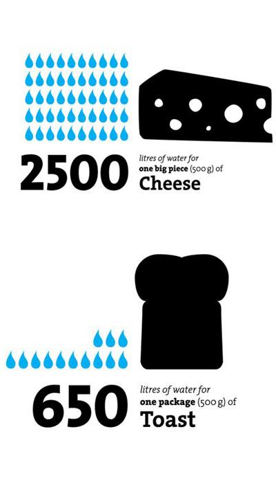 Den Großteil unseres virtuellen Wasserverbrauches verschlingen unsere Lebensmittel © Timm Kekeritz