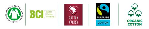 Labels nachhaltiger Baumwolle