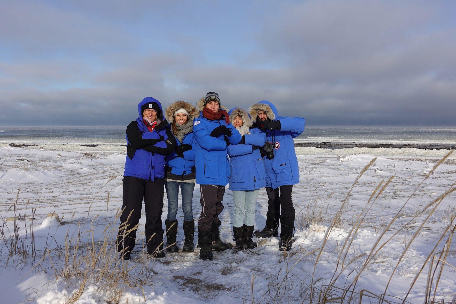 Sybille Klenzendorf, Melanie Gömmel, Anton Reyst, Anne Thoma, Joseph Bolz in der Hudson Bay
