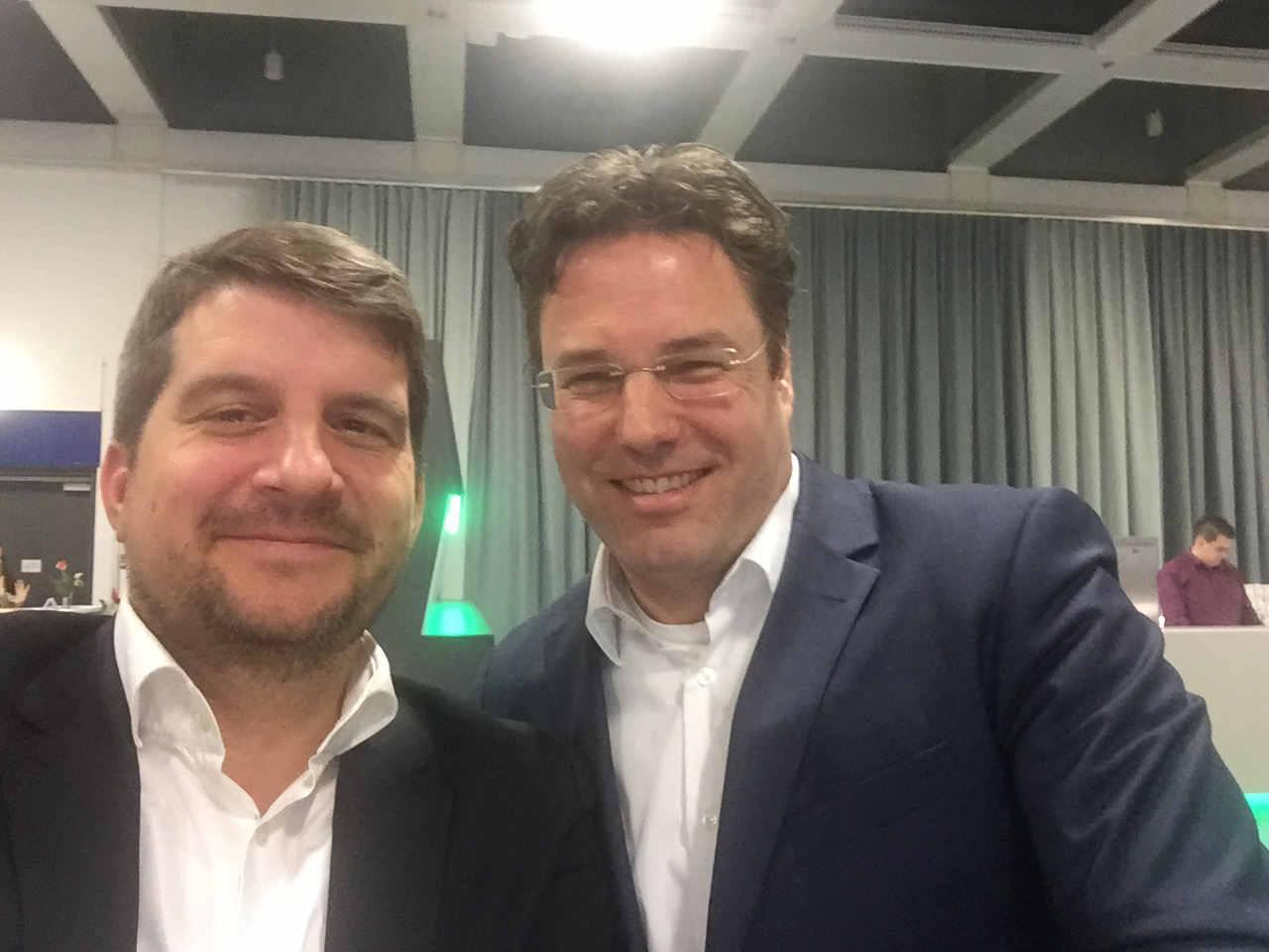 Glyphosat: Bayer Pressersprecher Maertin und WWF Vostandsmitglied Vollmar
