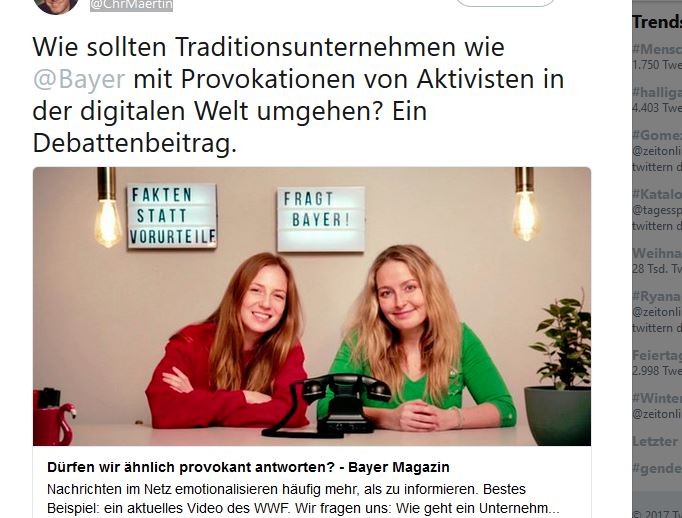 Screenshot des Videos von Bayer