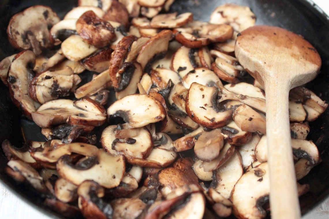 Reste essen: Champignons