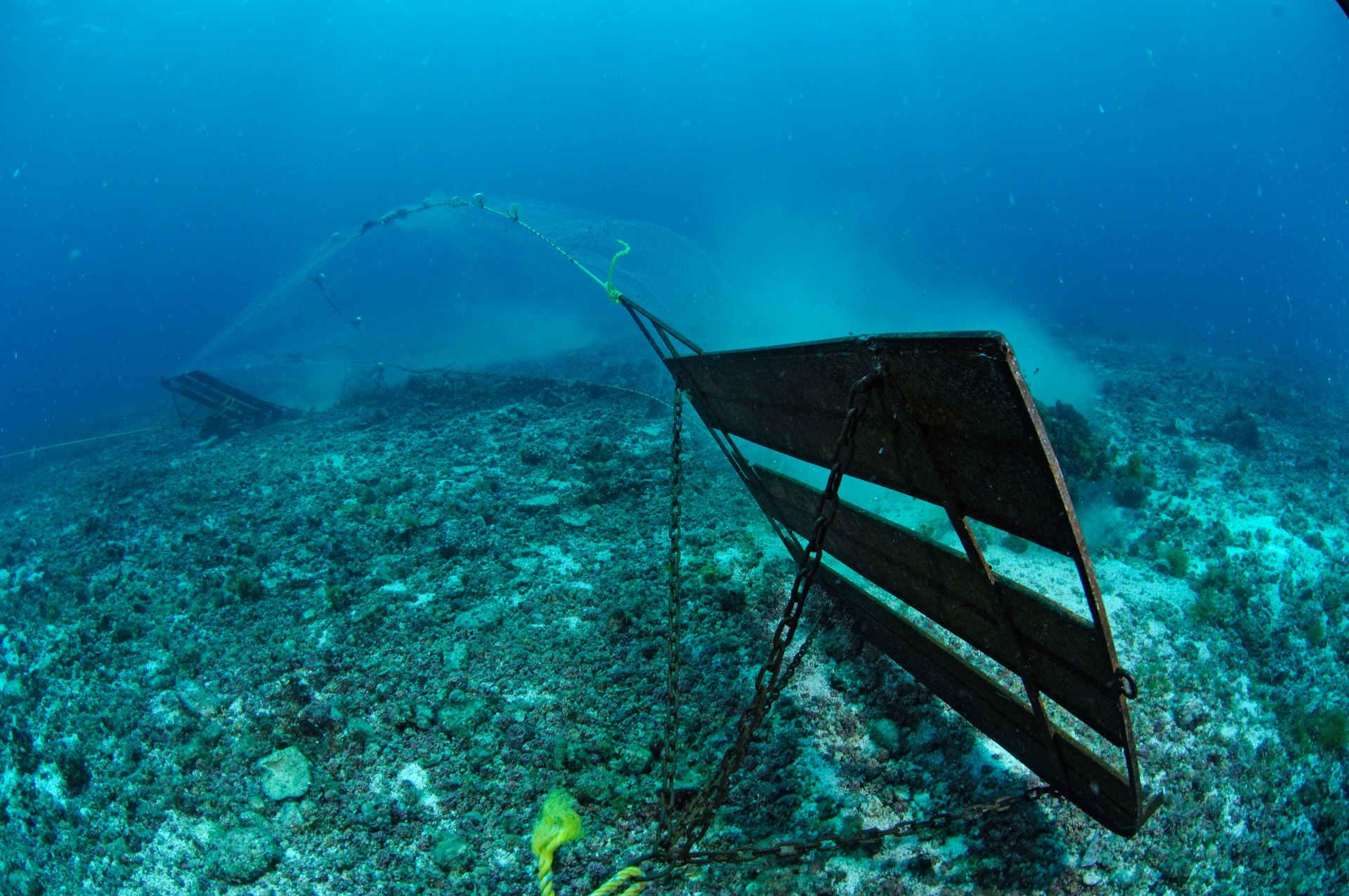 Fischfang: Grundschleppnetz zerstört den Meeresboden