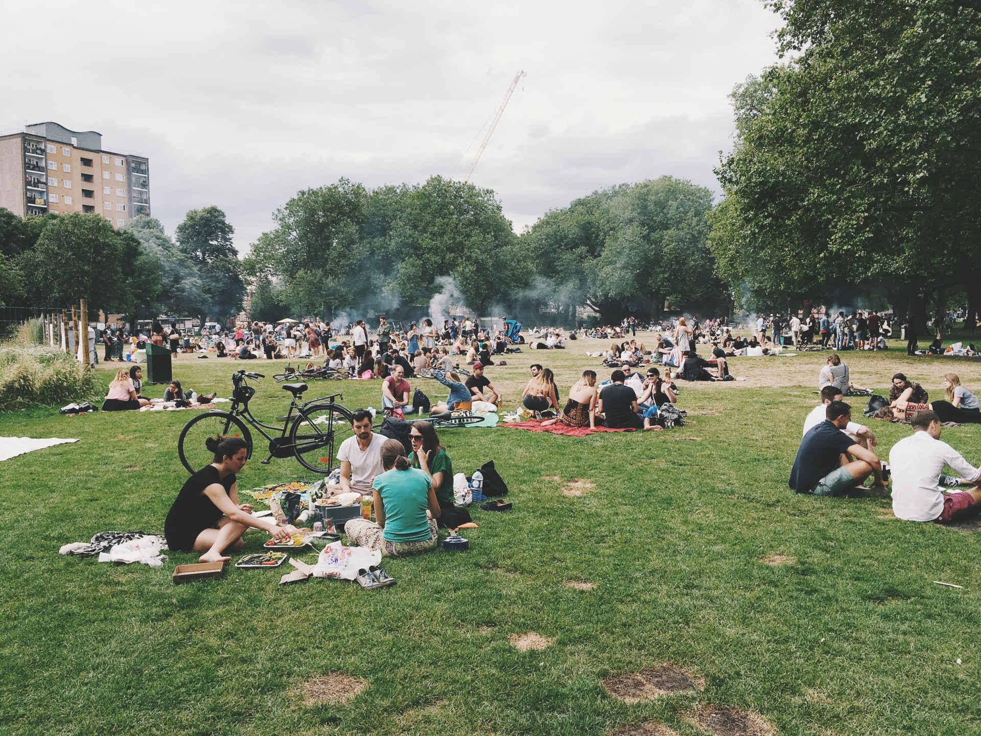 Grünes Grillen im Park