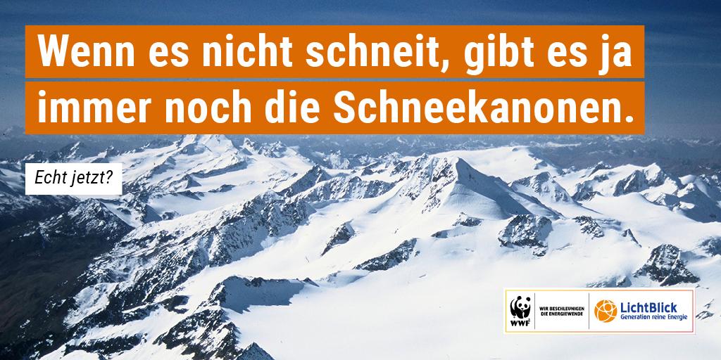 Wird es aufgrund des Klimawandels bald keinen Schnee mehr auf den Alpen geben? © Anton Vorauer