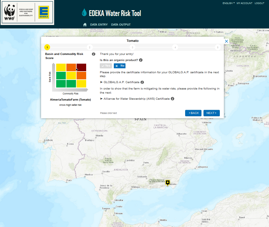 Mit dem EDEKA Water Risk Tool können Wasserrisiken erkannt und systematisch reduziert werden. © WWF
