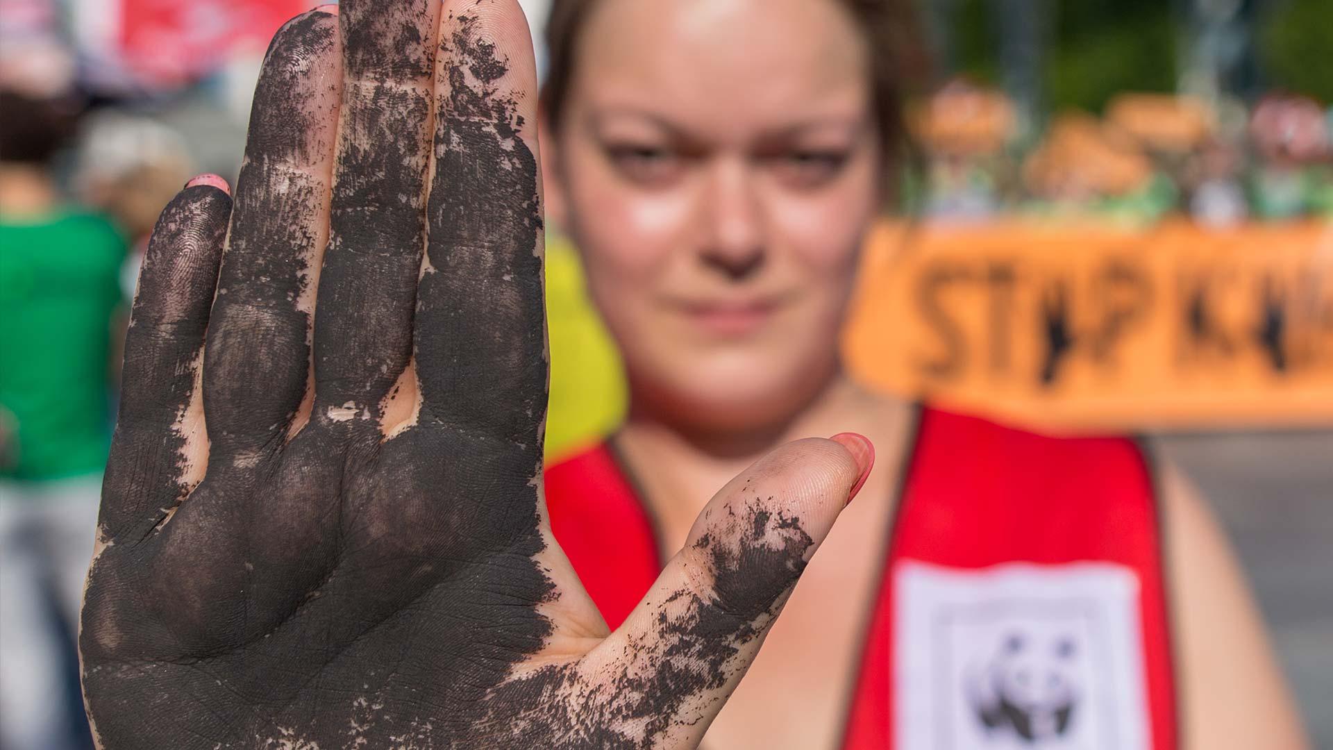 Die Kohlekommission muss liefern - Demonstration in Berlin