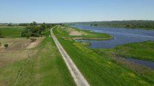 Blick auf den Sommerdeich entlang der Oder © Arite Hildebrandt