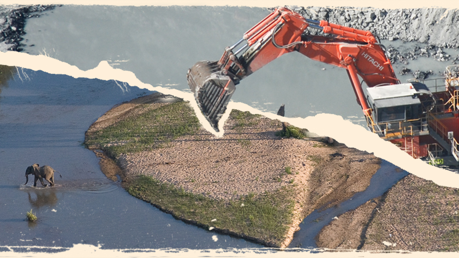 Der Bau eines Staudamms ist ein massiver Eingriff in die Landschaft. © WWF