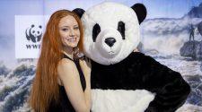 Das Fotomodell und Schauspielerin Barbara Meier ist die WWF-Markenbotschafterin. © Foto: Julia Thiemann / WWF