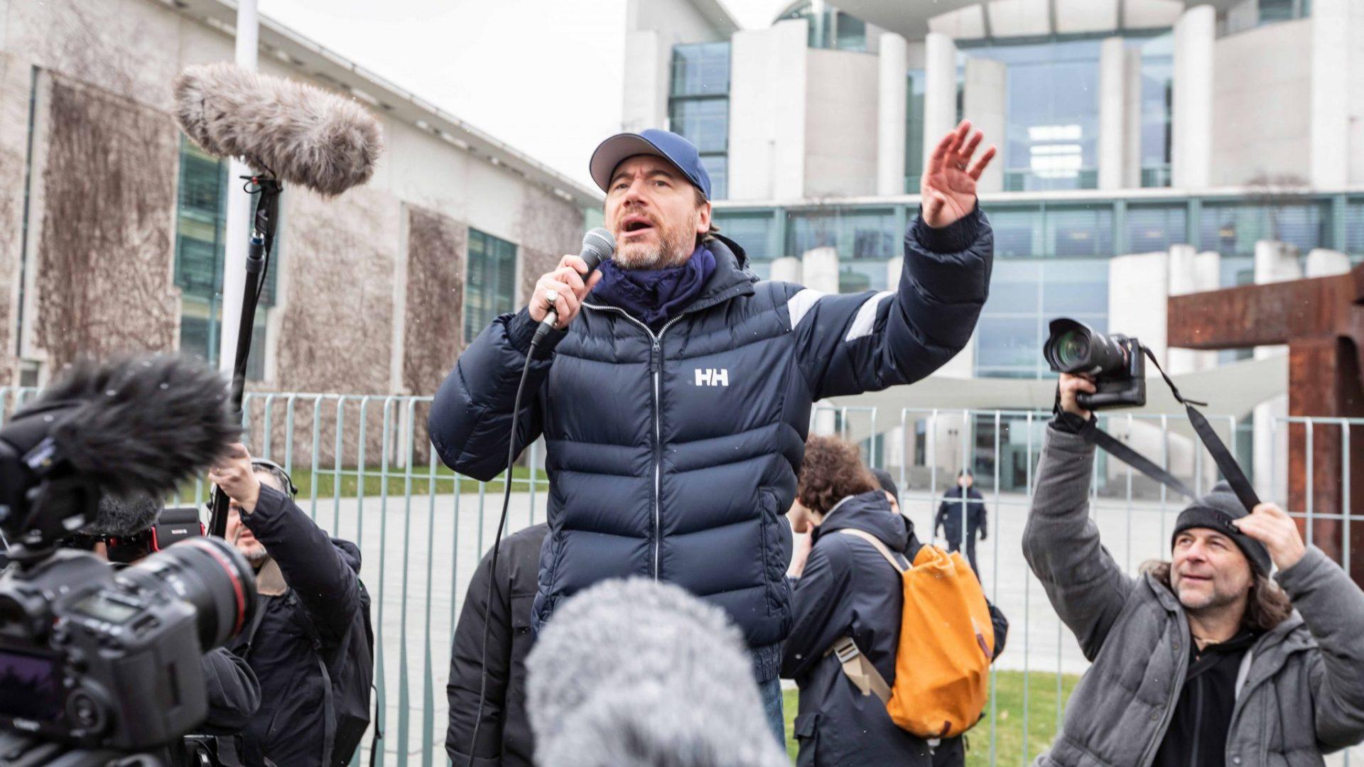 """Prominente Unterstützung für unsere Klima-Forderung gab es von Michael """"Bully"""" Herbig. © Jörg Farys / WWF"""
