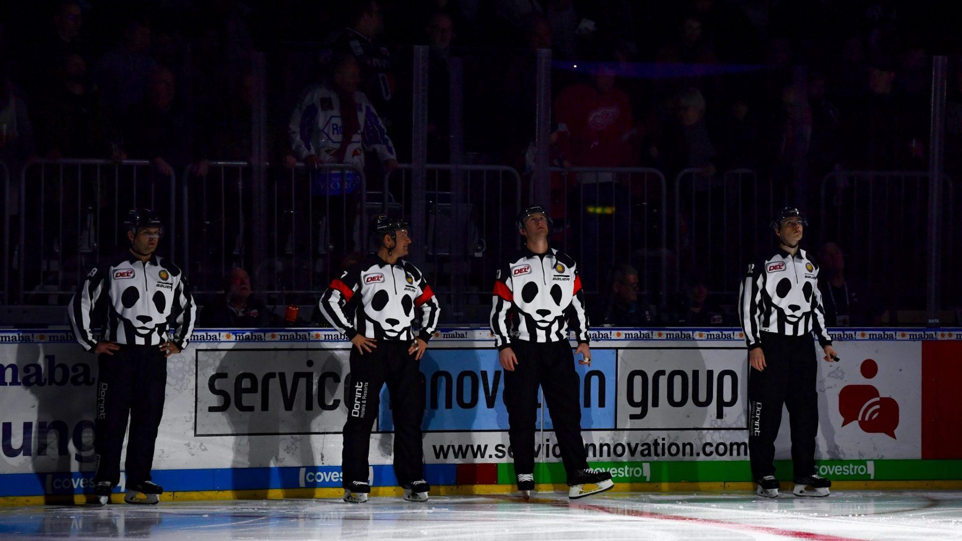 Die Eishockey-Schiedsrichter der DEL gehören künftig zum Team-Artenschutz. © City Press