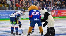 Der Panda war beim Eröffnungsbully live dabei. © City Press