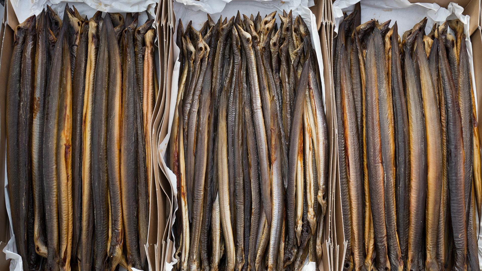 Norsee Fisch: Räucheraal