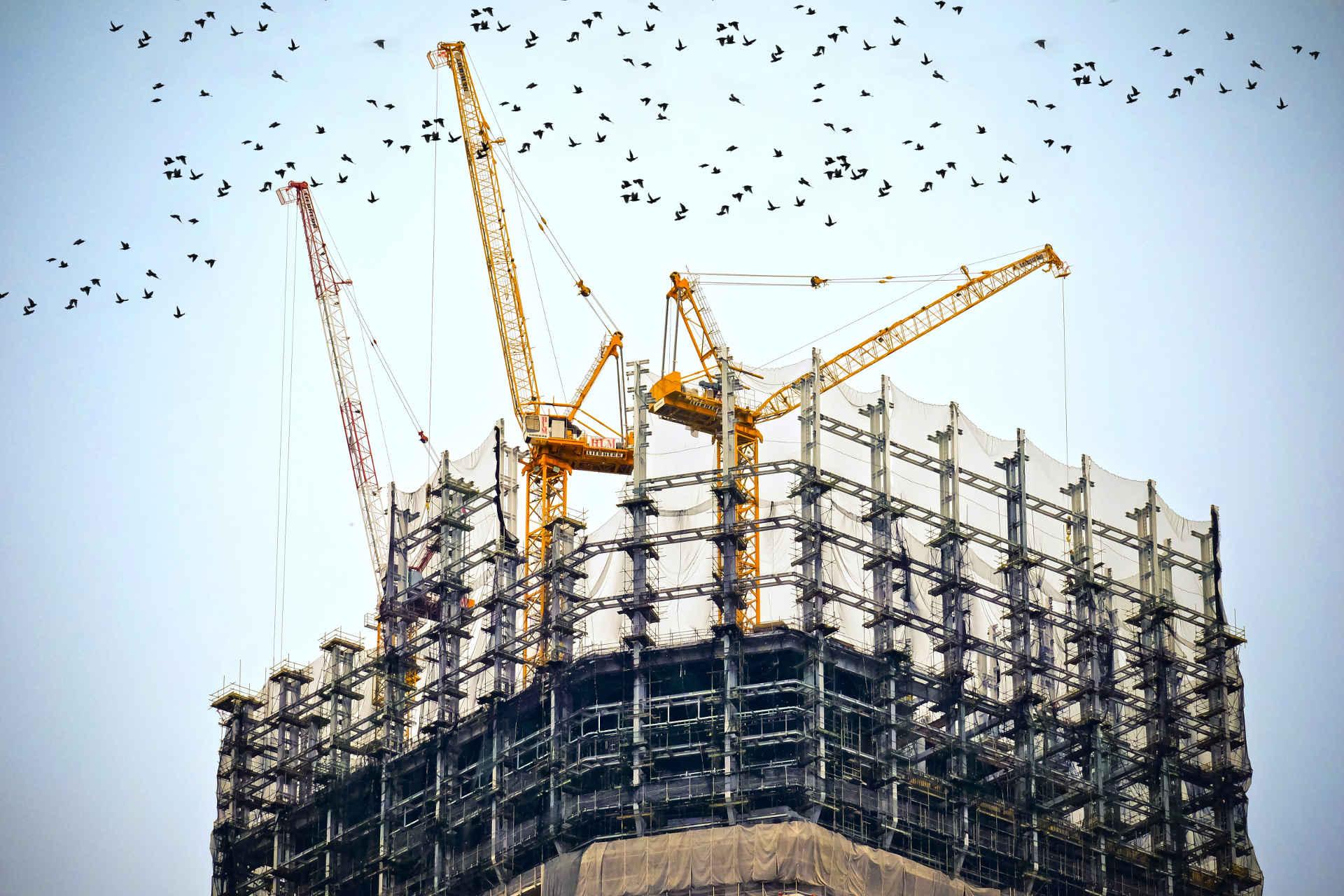 Rohstoff Stahl: Hochhaus Baustelle