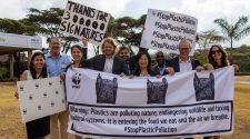 Wir vom WWF waren auf der #UNEA4 und haben unser Bestes gegeben, um der UN-Konvention gegen Plastikmüll einen Schritt näher zu kommen. Nicht im Bild: Der Autor. © Markus Winkler / WWF