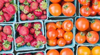 Tomaten und Erdbeeren