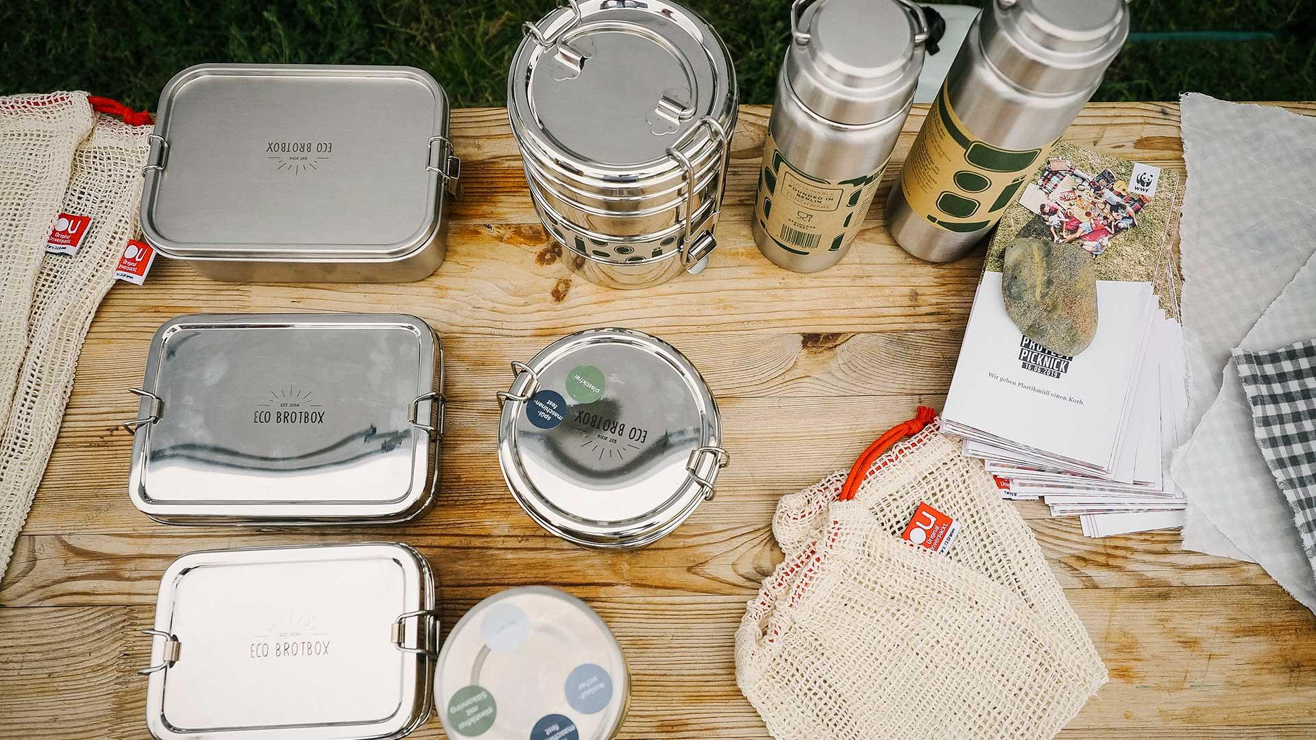 Nehmt euch dich am besten euer eigenen Geschirr mit zum Fetival. © Daniel Seiffert /WWF