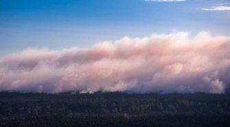 Waldbrände Deutschland: Luftaufnahme von Lübtheens, Meckenburg-Vorpommern