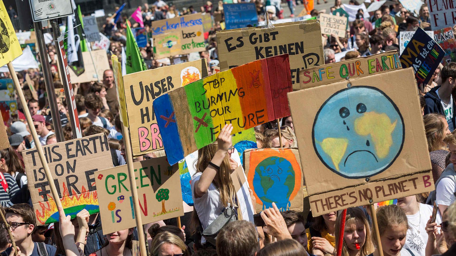 Klima Fußabdruck Demo